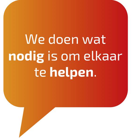 We Doen Wat Nodig Is Om Elkaar Te Helpen.
